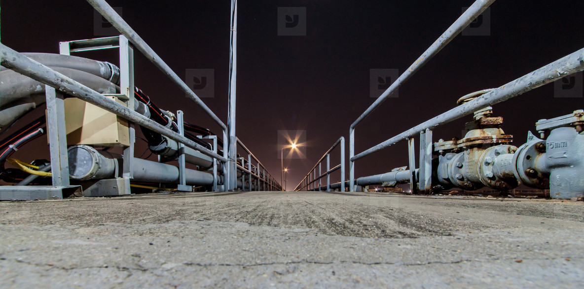 Shipping Port at Night