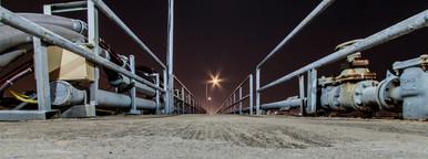 Shipping Port at Night