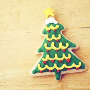 Decorated christmas gingerbread