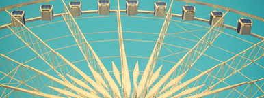 Ferris wheel with retro