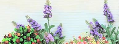 Decorated flower in garden