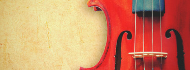violin on grunge background