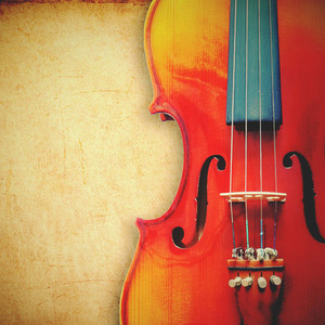 violin on grunge background