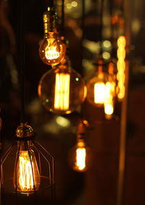 Lighting decor at night