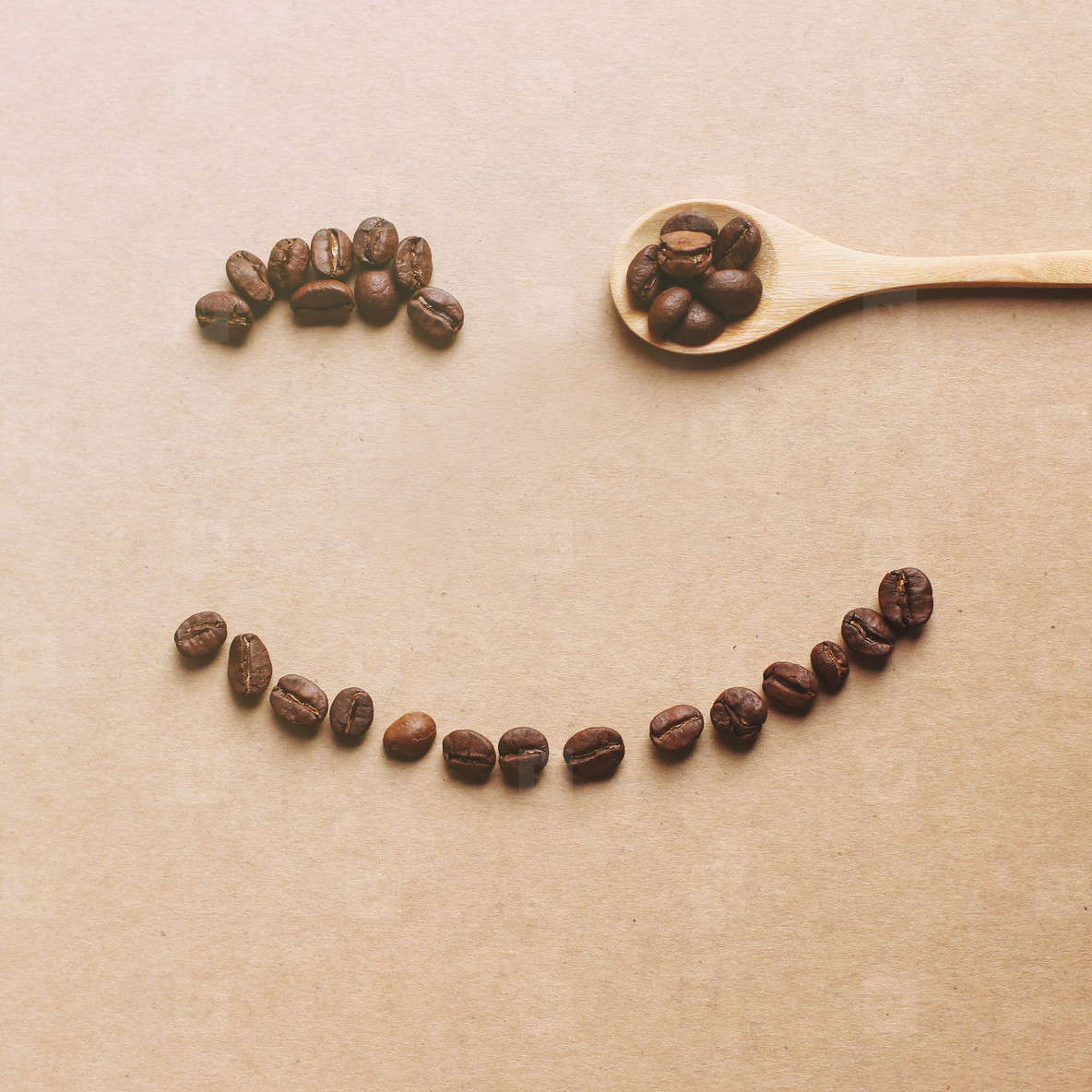 Happy face of coffee bean