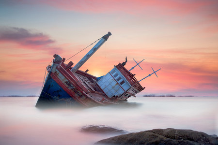 Ghostly Fishing Boat