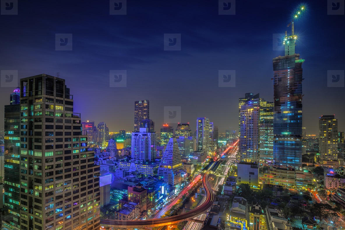 Asian City at Night