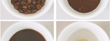 4 Step for fresh hot coffee
