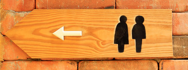 Toilet sign and direction