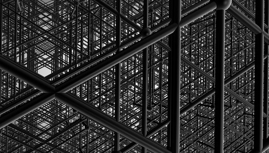 black construction grid