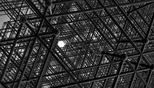 black construction grid