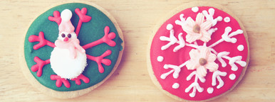 Decorated colorful gingerbread
