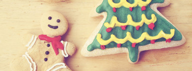 Decorated christmas gingerbreads