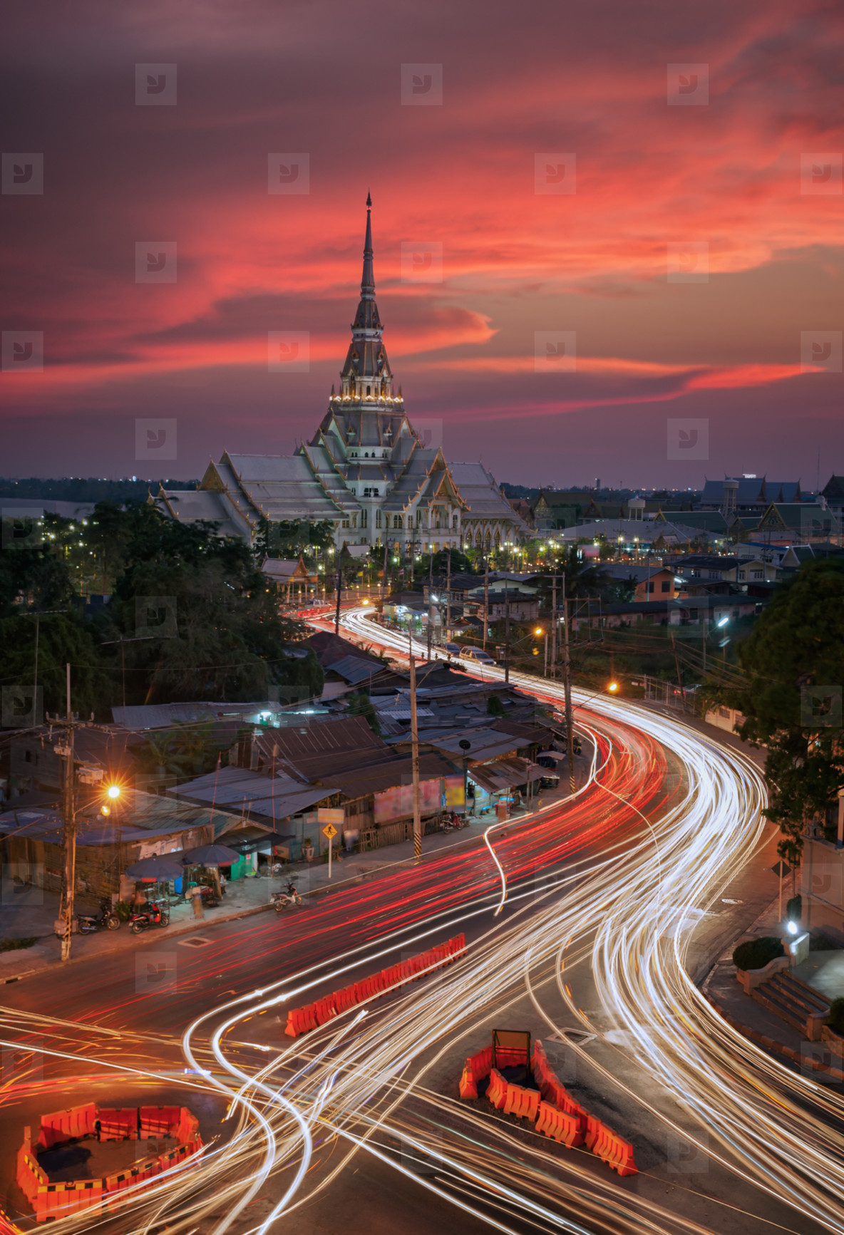 Light Trails in Thailand