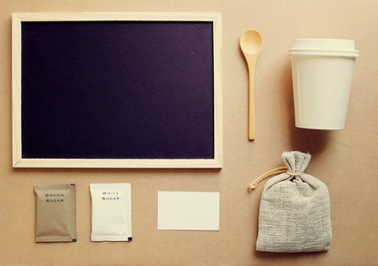 Coffee and stationery mockup