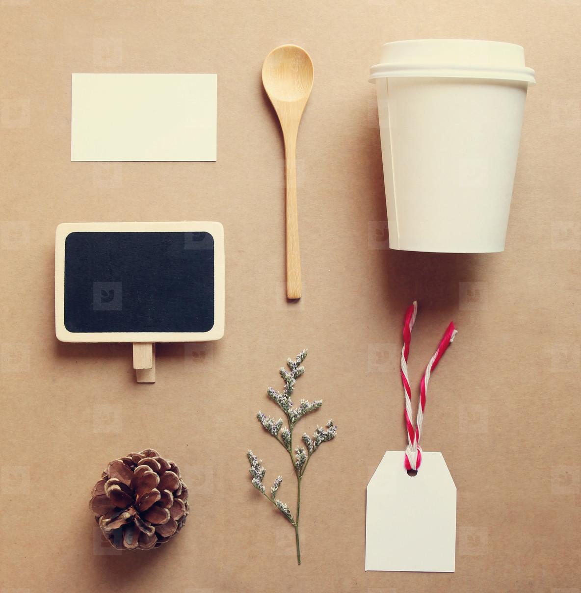 Coffee identity and craft mockup