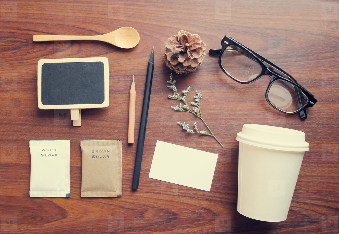 Coffee and stationery mockup set