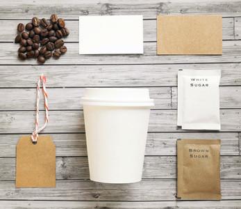 Coffee identity branding mockup