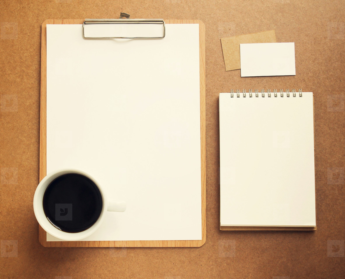 Blank white paper on clipboard