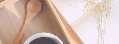 Black coffee and good book