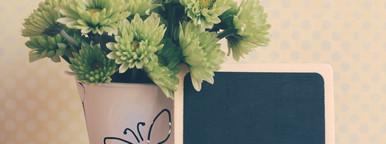 flower with blackboard