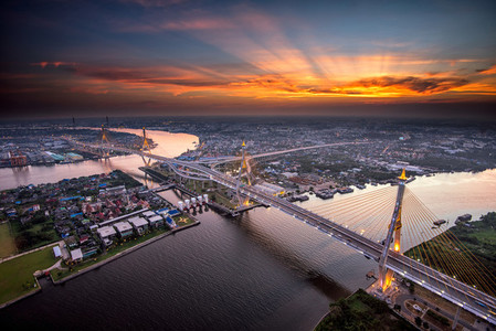 The Bhumibol Bridge also known a