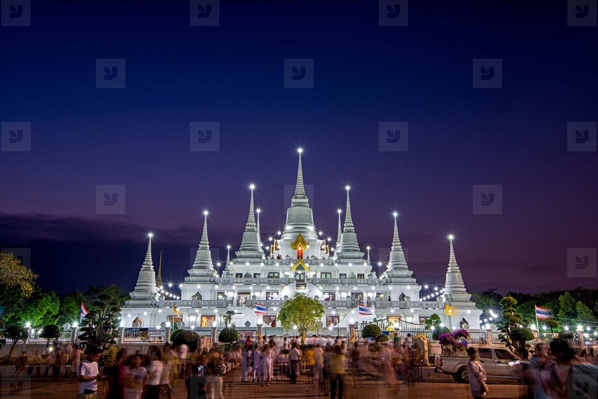Asokaram Thai Temple at twilight