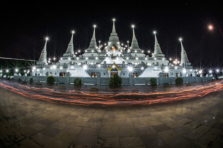 Asokaram Thai Temple at twilight