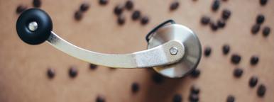 Top view of coffee grinder
