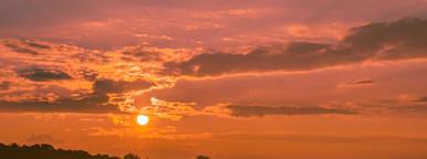 Autumn morning   Sunset