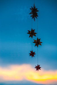 Christmas stars   sky