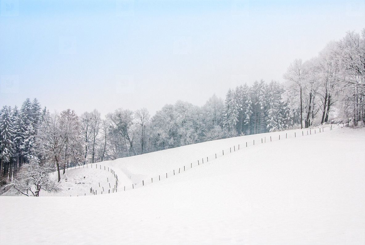 Dreamy landscape winter