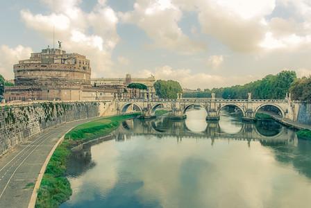 Rome   tiber   vintage