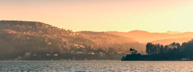 Morning view at a lake