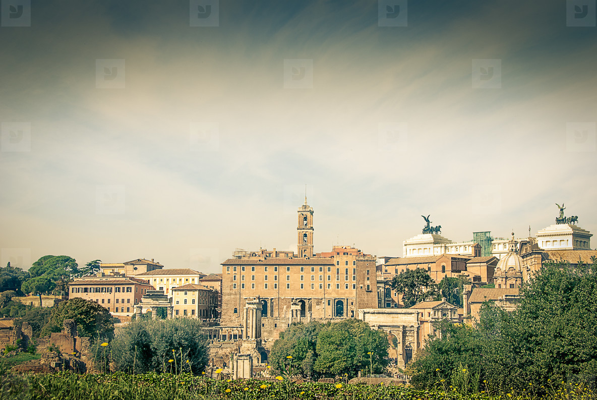 Vintage picture of rome