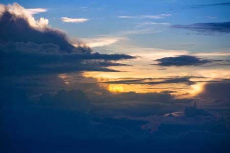 Sunset  Dark cloudy sky