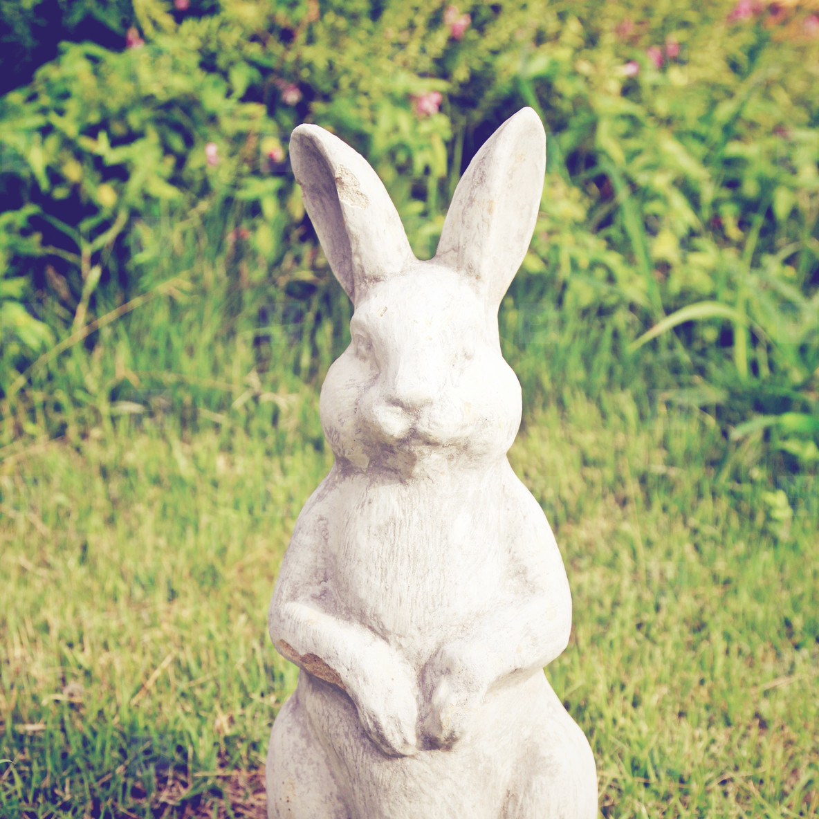 Statue of rabbit in the garden