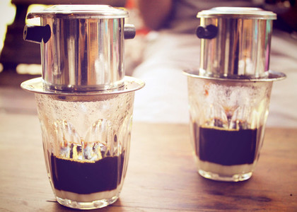 Coffee dripping vietnamese style