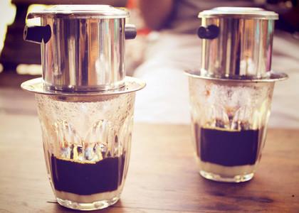 Coffee dripping vietnamese style