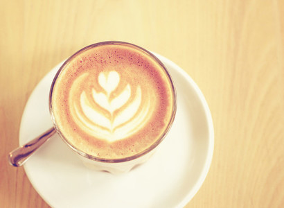 Cup of latte or cappuccino