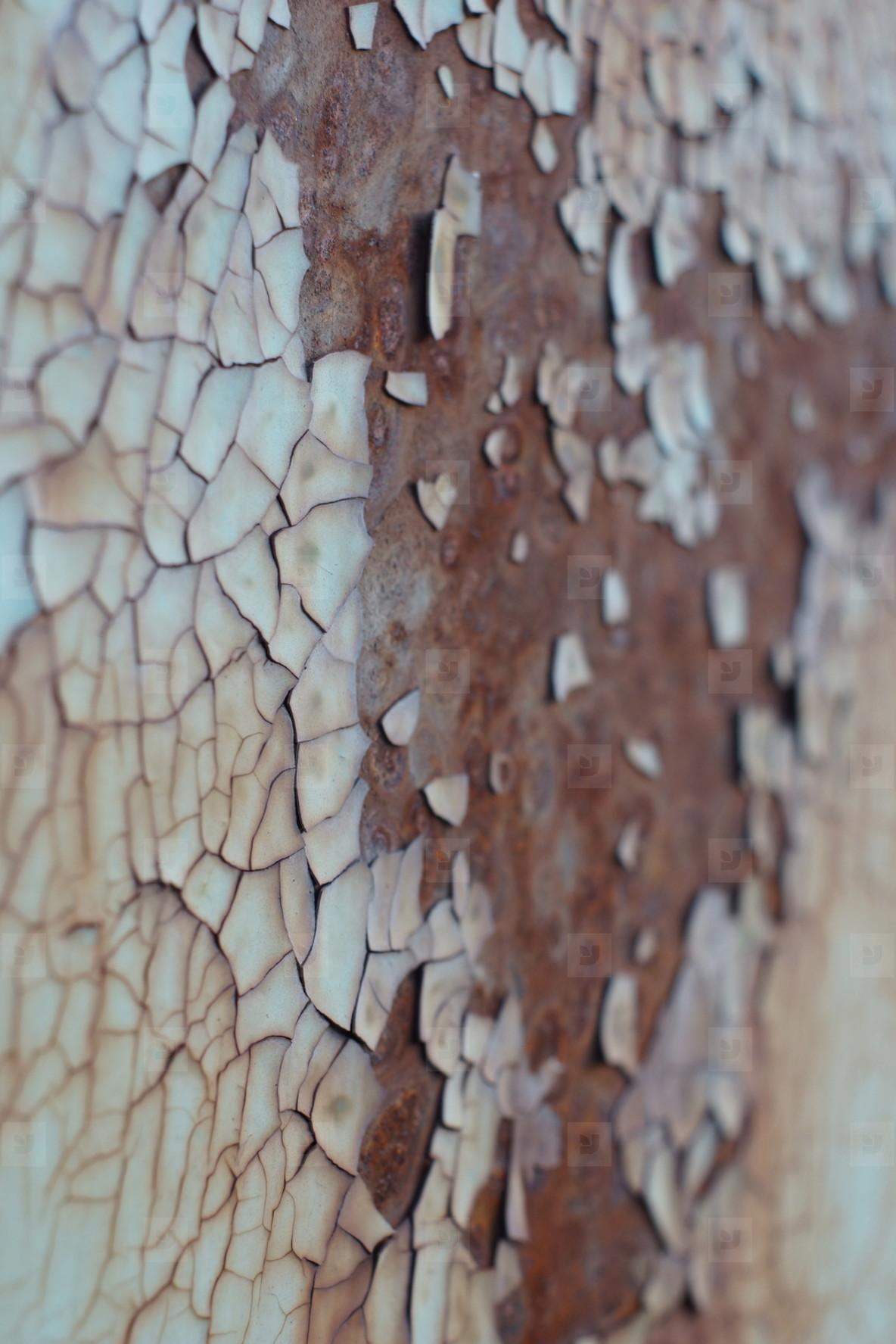 paint on rust texture