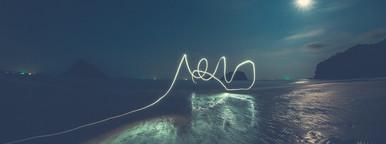 Light Trails on the Beach
