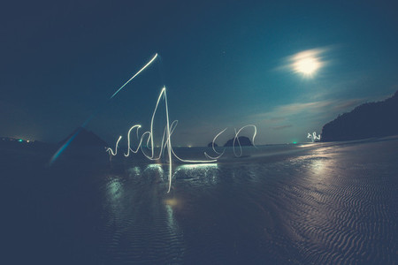 Light Trails on the Beach
