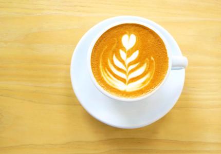 latte or cappuccino coffee