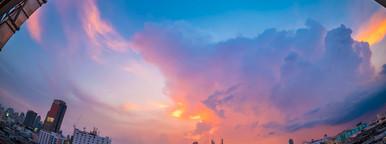 Bangkok cityscape in twilight