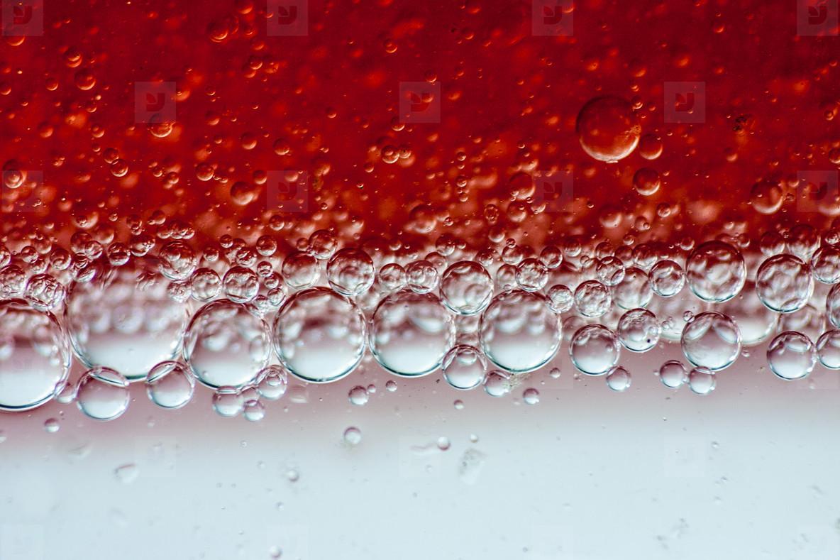 Red oil bubbles