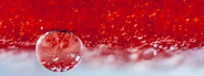 Red oil bubbles