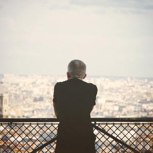 Lonely tourist man