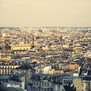 Top view of paris skyline