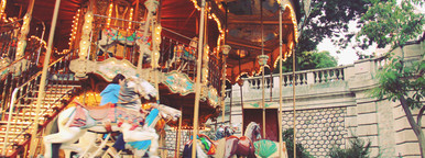 Carousel horse at the park